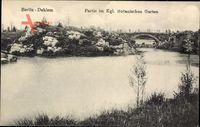 Berlin Zehlendorf Dahlem, Partie im königlichen Botanischen Garten
