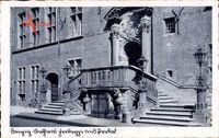 Gdańsk Danzig, Rathaus, Freitreppe und Portal, Steinreliefs