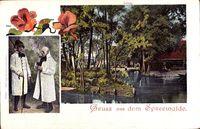 Lehde Lübbenau, Gruß aus dem Spreewalde, Spreewälder