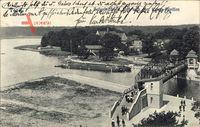 Berlin Reinickendorf Tegel, Spreepartie, Hafenbrücke, Weg zum Kaiser Pavillon