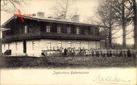 Joachimsthal, Blick auf das Jagdschloss Hubertusstock, Jäger