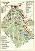 Landkarten Berlin Zehlendorf Dahlem, Grundplan des Botanischen Gartens