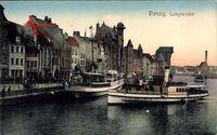 Gdańsk Danzig, Langebrücke, Mottlau, Anlegestelle, Schiff Hela Danzig