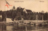 Berlin Zehlendorf Wannsee, Schwedischer Pavillon, Bootsanlegestelle