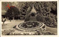 Interlaken Kt. Bern Schweiz, Blick auf die Blumenuhr um Kurgarten