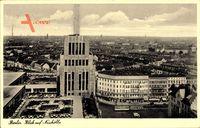 Berlin Neukölln, Vogelperspektive, Hochhaus, Straßen, Parkplätze, Häuser