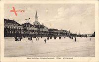 Jelgava Mitau Lettland, Vom östlichen Kriegsschauplatz, Wintersport,Eislaufen
