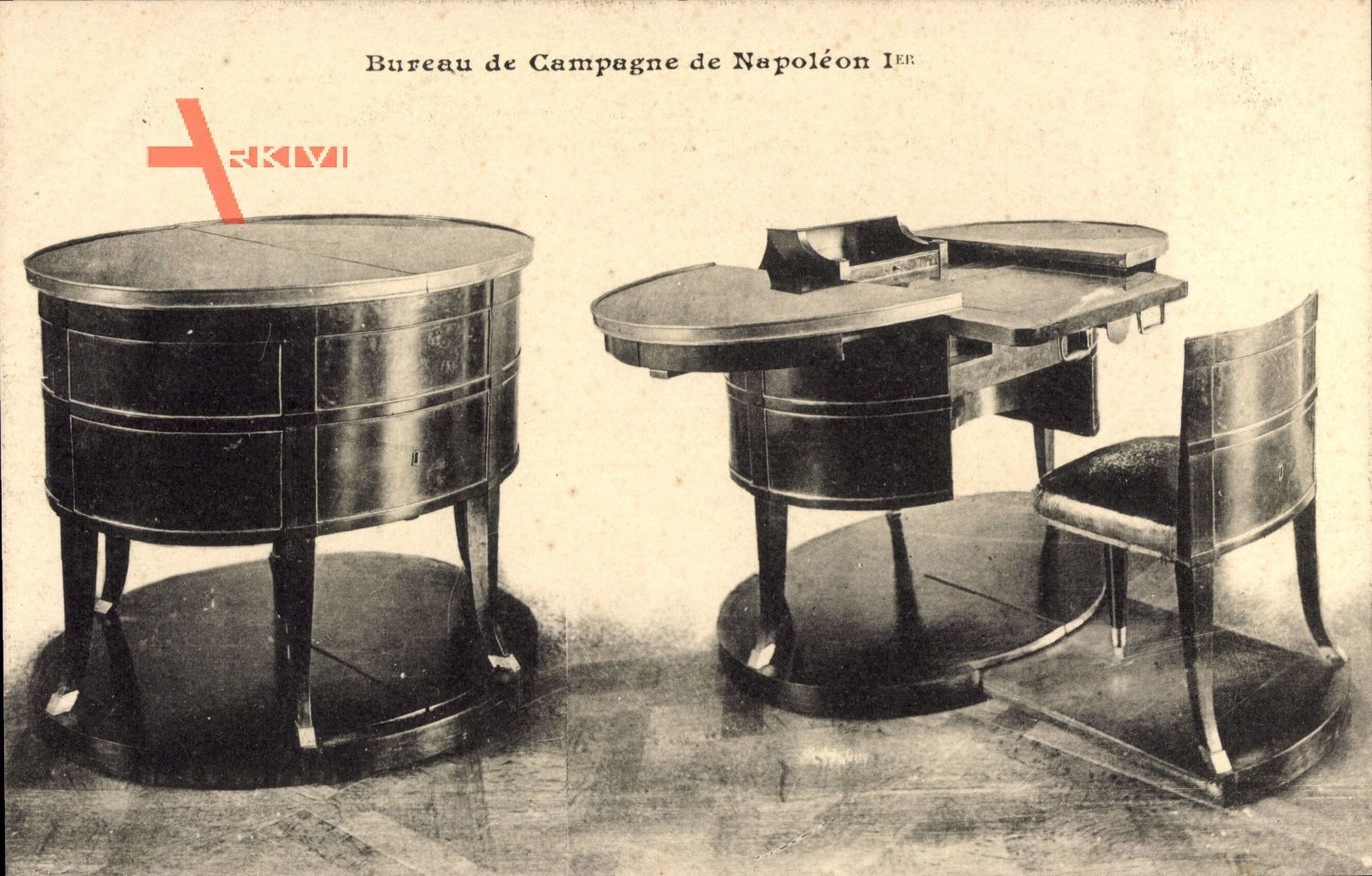 Bureau de Campagne de Napoleon Ier, Möbel