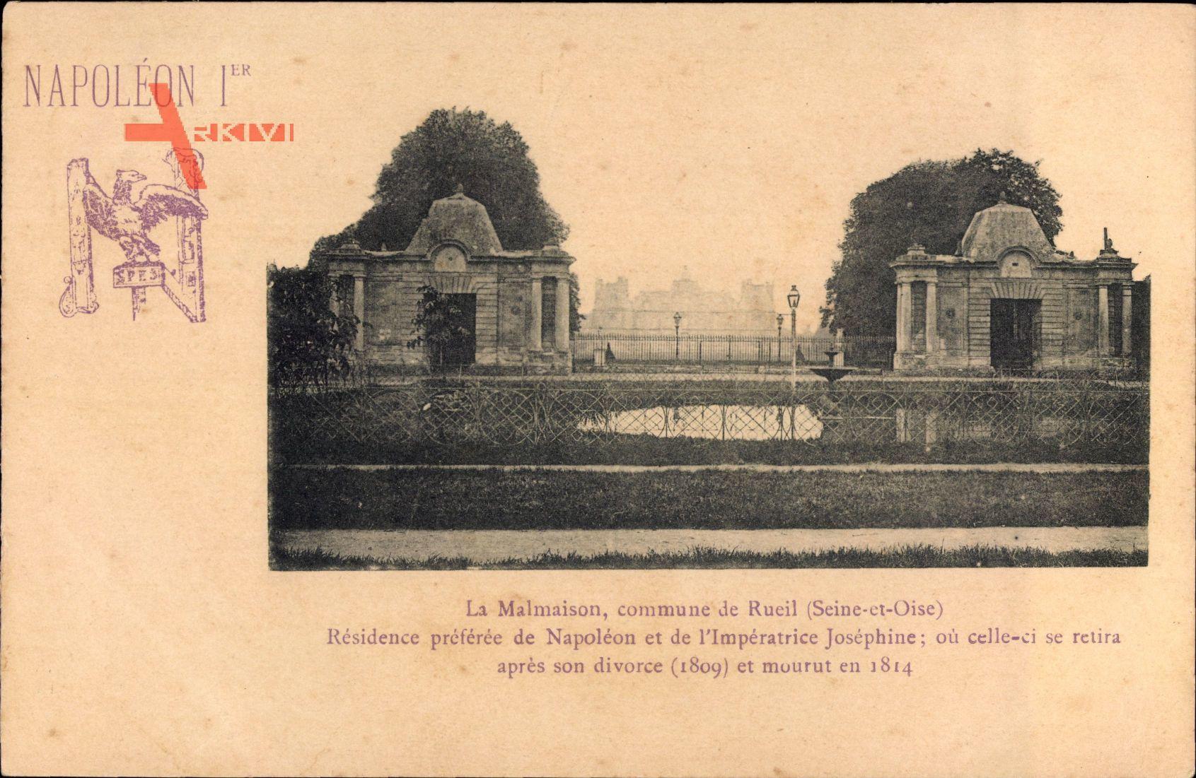 Napoleon Ier, La Malmaison, commune de Rueil Seine et Oise