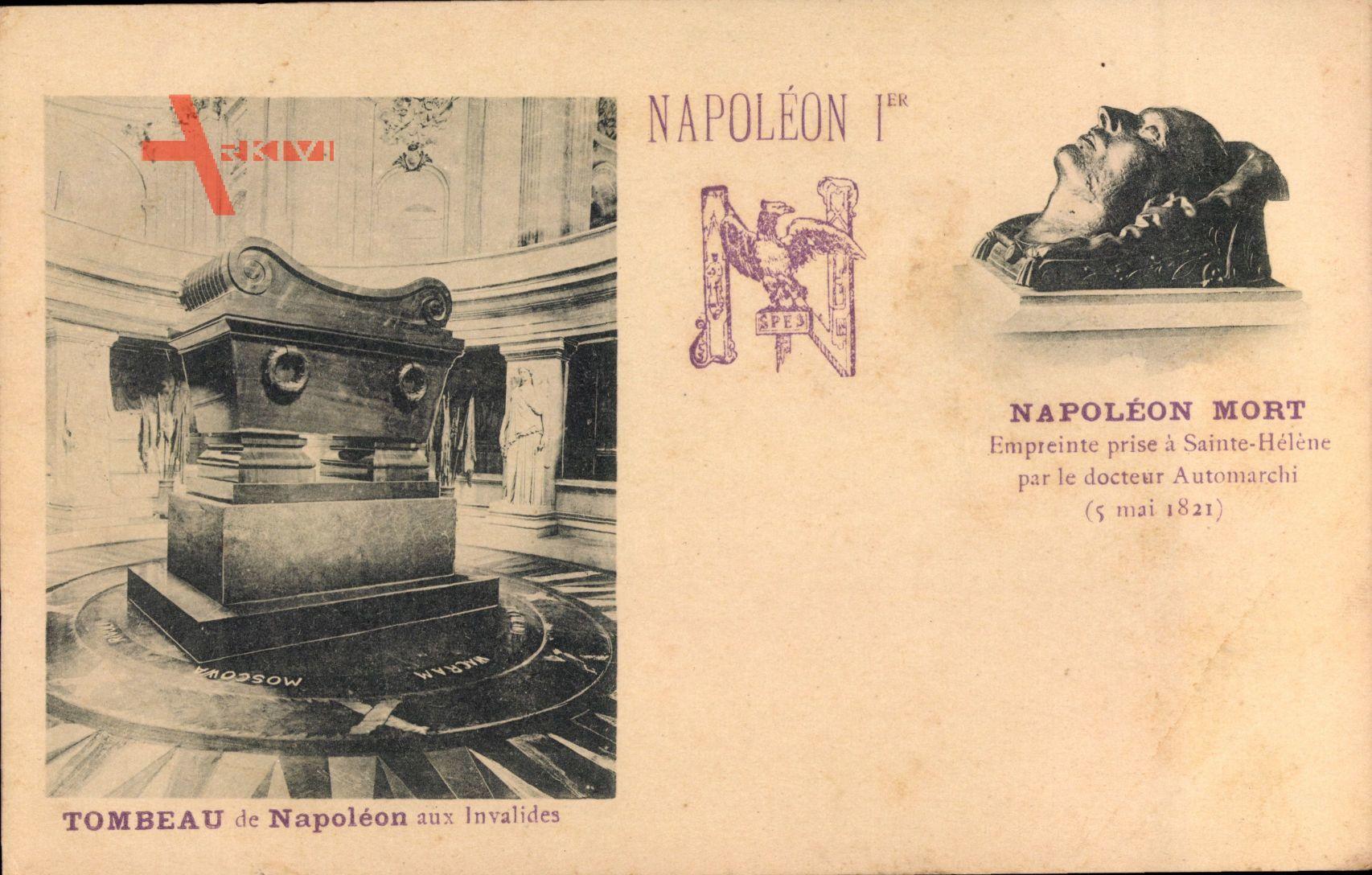 Napoleon Ier, Tombeau aux Invalides, Mort, Empreinte par Automarchi