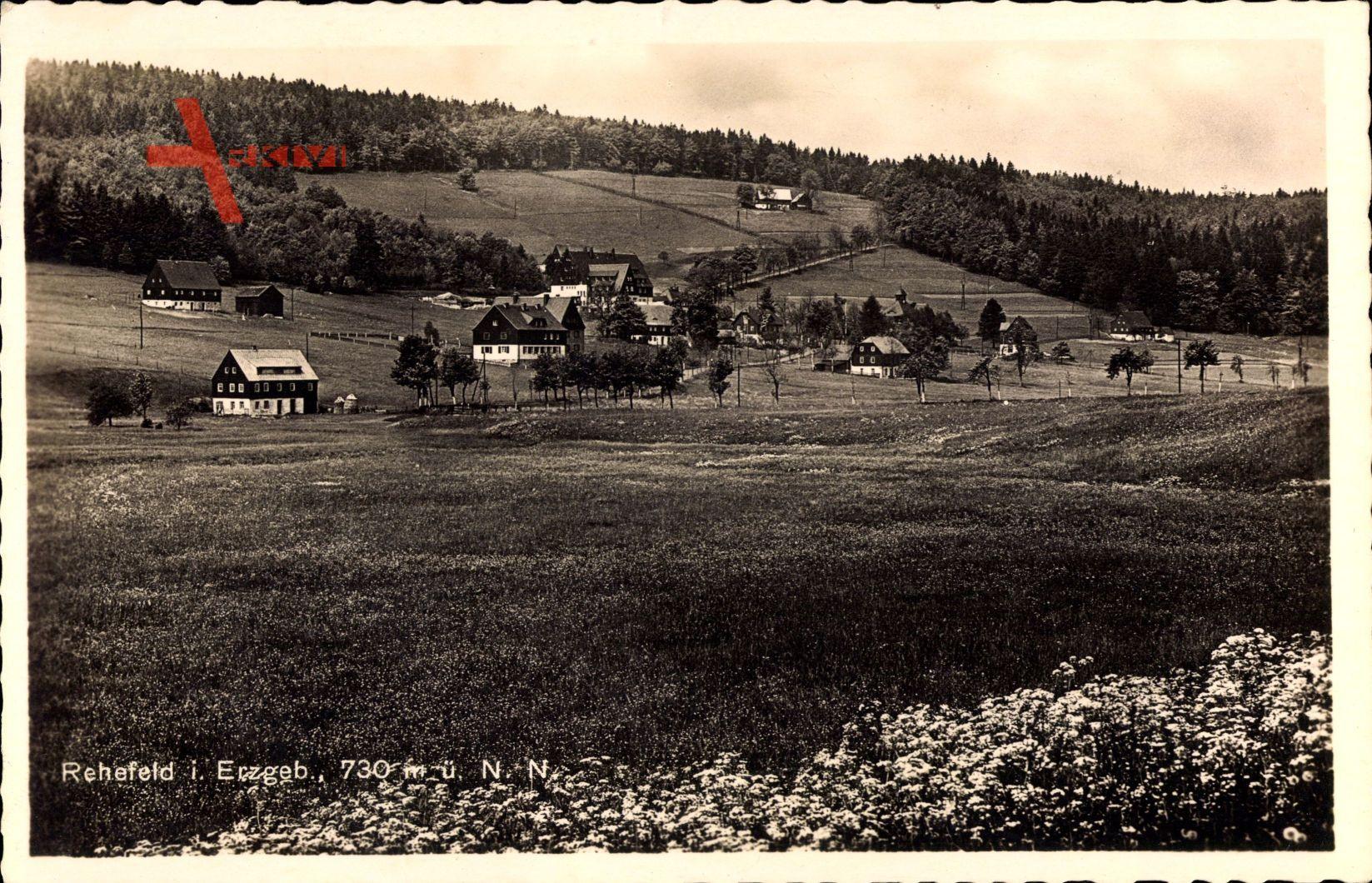 Rehefeld Zaunhaus Altenberg Erzgebirge, Siedlung, Felder, Frühling