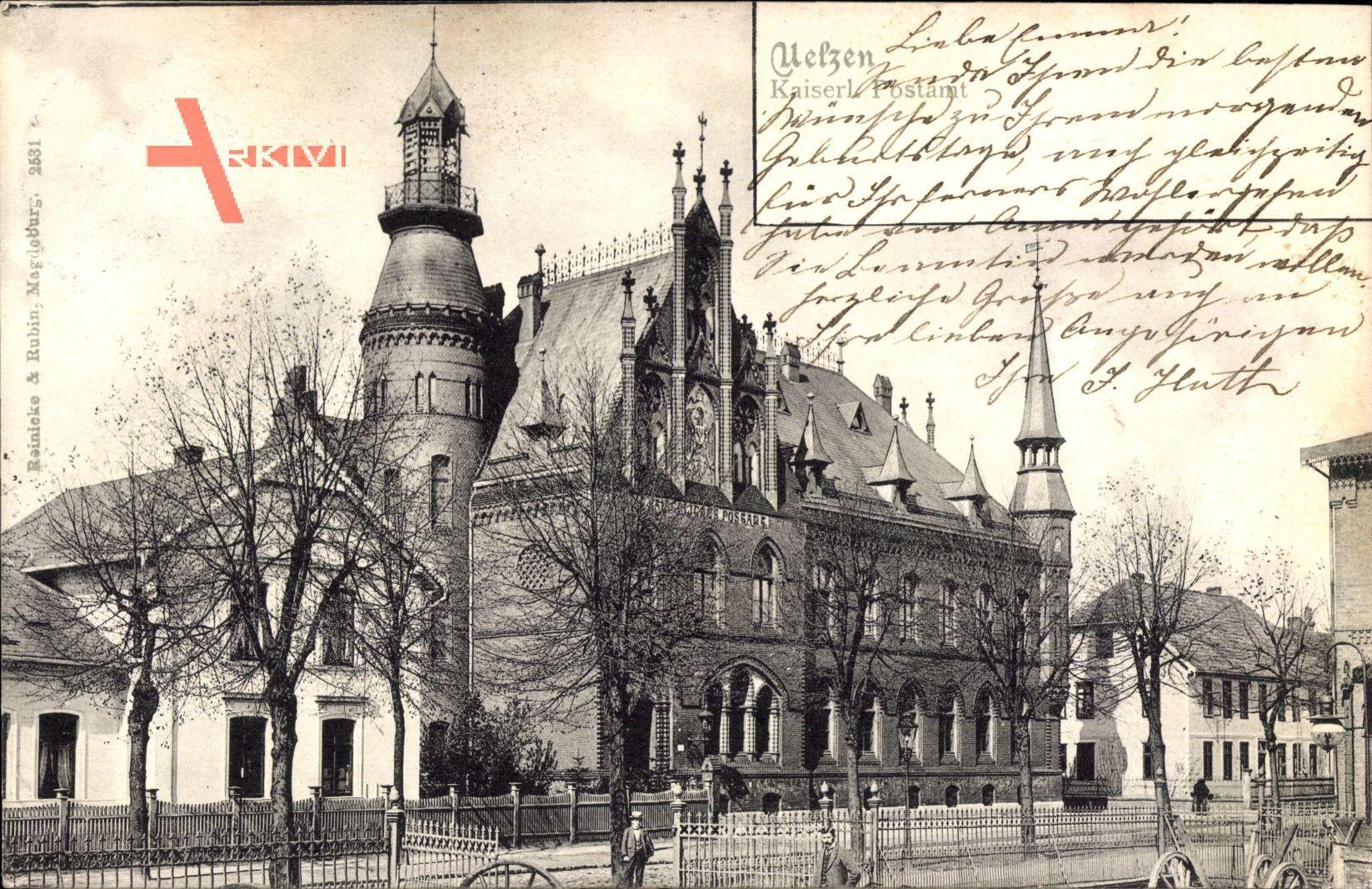 Uelzen in Niedersachsen, Blick auf das Kaiserliche Postamt