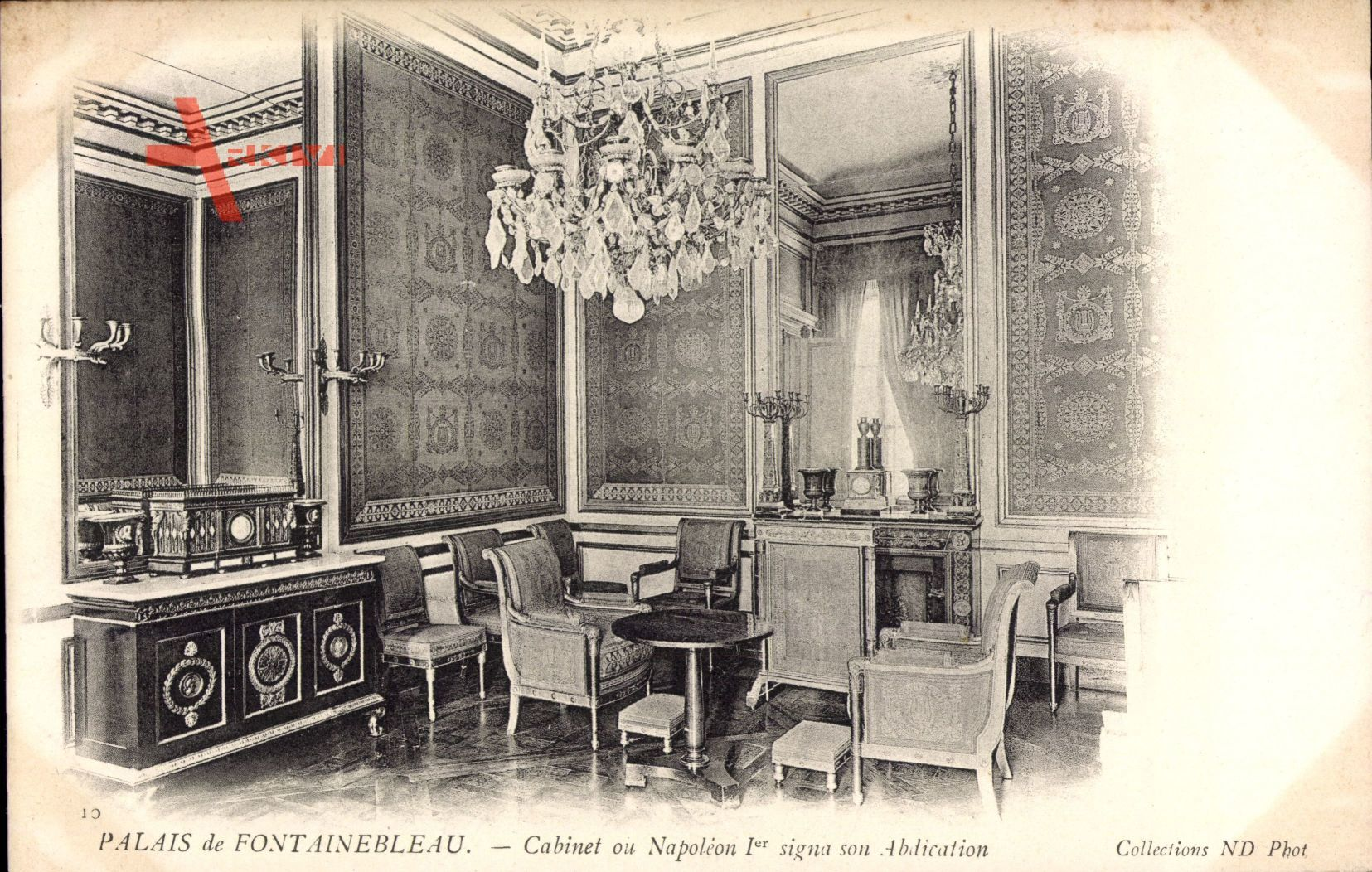 Fontainebleau Seine et Marne, Palais,Cabinet ou Napoleon 1er signa Abdication