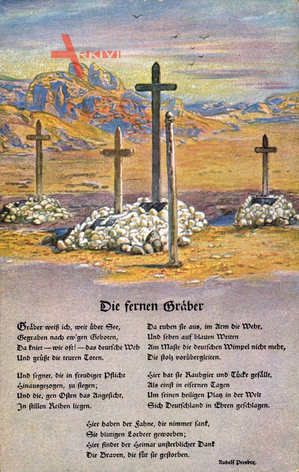Die Fernen Gräber, Erster Weltkrieg, Soldatengräber, Südwestafrika