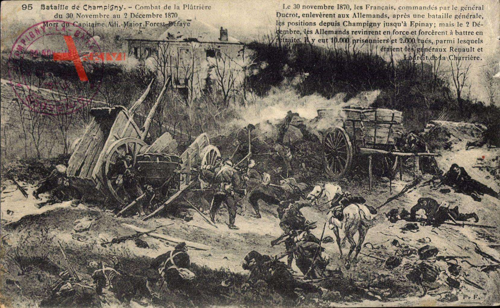 Champigny sur Marne Val de Marne, Bataille, 30 Novembre 1870