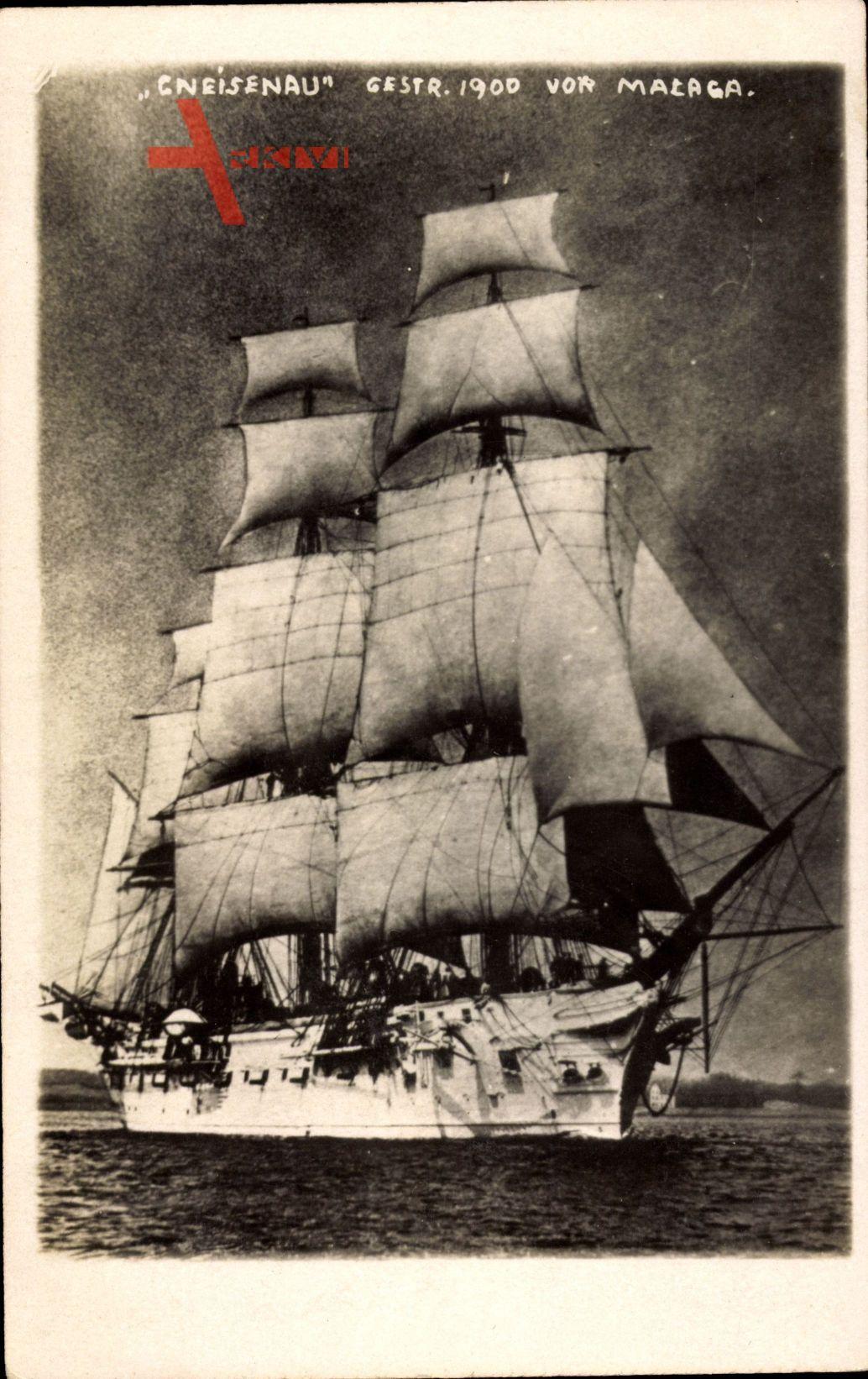Segelschiff Gneisenau, Gestrandet 1900 vor Malaga, Dreimastbark