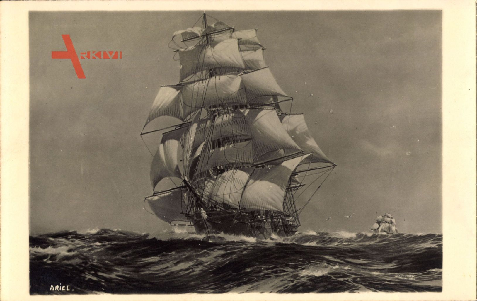 Segelschiff Ariel, Britisch, Erbaut 1865, Dreimastbark