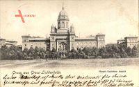 Blick auf die Fassade der Haupt Kadetten Anstalt in Berlin Steglitz Lichterfelde um 1903