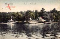 Berlin Zehlendorf, Pfaueninsel, Partie am Restaurant Marstall, G. Prinz