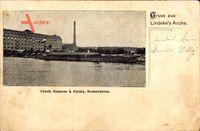 Blick von Lindeke's Arche auf die Fabrik von Siemens und Halske an der Nonnenwiese in Berlin Spandau