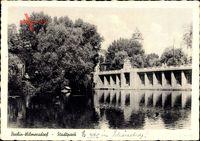 Teilansicht des Stadtparks in Berlin Wilmersdorf um 1944