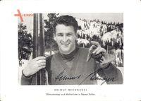 Helmut Recknagel, Olympiasieger, Skispringer, Autogramm