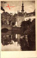 Gdańsk Danzig, Stary ratusz, Altes Rathaus, Wasserseite, Brücke