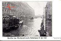 Berlin Kreuzberg, Yorkstraße bei Hochwasser, 14. April 1902, Wolkenbruch