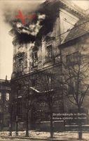 Berlin, Artillerie Volltreffer im Marstall, Novemberrevolution 1918, Brand
