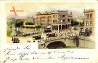 Berlin Kreuzberg, Hallesches Tor, Brücke, Straßenbahnen, Verkehr