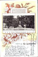 Passepartout Berlin Steglitz Lichterfelde, Blick auf Kaiser Wilhelm Denkmal