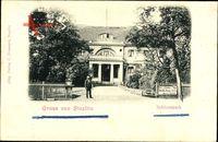 Berlin Steglitz, Partie im Schlosspark mit Blick auf das Schloss Restaurant