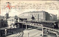 Berlin Kreuzberg, Schlesisches Tor, Hochbahn, Straßenpartie, Häuser