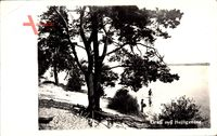Berlin Reinickendorf Heiligensee, Uferpartie mit Blick auf den See