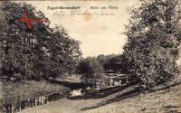 Berlin Reinickendorf Hermsdorf Tegel, Flusspartie mit Brücke