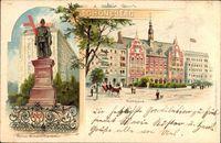 Berlin Schöneberg, Kaiser Wilhelm Denkmal mit Rathaus