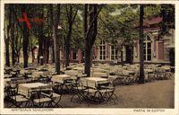 Berlin Grunewald, Wirtshaus Schildhorn, Bes. Emil Richter, Gartenansicht
