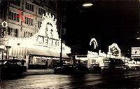 Berlin Schöneberg Friedenau, Straßenpartie bei Nacht, Menke
