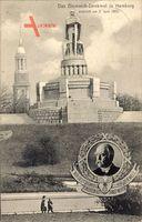 Hamburg Mitte Neustadt, Das Bismarckdenkmal von 02 Juni 1906
