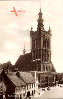 Gdańsk Danzig, Ansicht der Katharinenkirche, Vorplatz