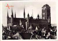 Gdańsk Danzig, Ansicht der Marienkirche, Nordseite, 1485 vollendet