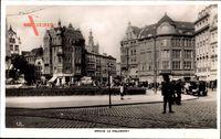 Gdańsk Danzig, Holzmarkt, Passanten, Gebäude, Geschäfte