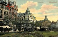 Düsseldorf am Rhein, Blick auf den Wilhelm Platz, Norddeutscher Lloyd