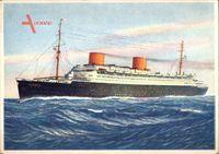 Dampfschiff Europa, Norddeutscher Lloyd Bremen, Ansicht Backbord