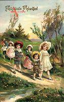 Glückwunsch Pfingsten, Spaziergang im Freien, Frühling, Kinder, EAS