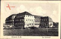 Mieszkowice Bärwalde Neumark Ostbrandenburg, Blick auf den Luisenhof, Fassade