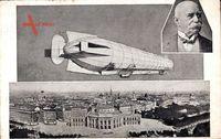 Wien Österreich, Graf Zeppelin mit seinem lenkbaren Luftschiff