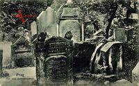 Judaika Praha Prag, Blick auf den alten Judenfriedhof, Grabsteine, Gräber