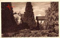 Wernigerode Harz, Blick auf Mittelbauhaus, Parkansicht, Friedrichstraße 53