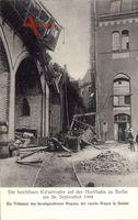Berlin Schöneberg, Trümmer nach Katastrophe auf der Hochbahn 1908